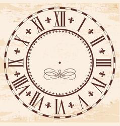 elegant roman clock vector image vector image