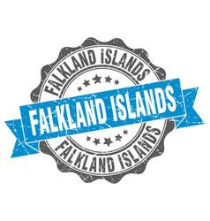 Falkland islands round ribbon seal vector