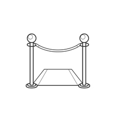 Fence with carpet line icon vector