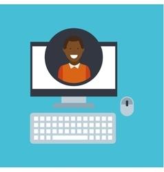 Guy afroamerican community social network vector