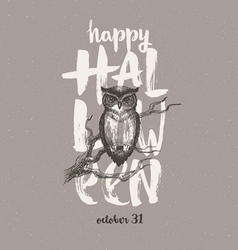 Halloween with owl vector