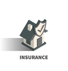 insurance icon symbol vector image