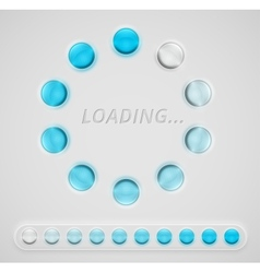 Loading interface vector image vector image