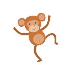 Monkey stylized childish drawing vector