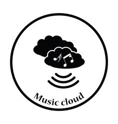 Music cloud icon vector