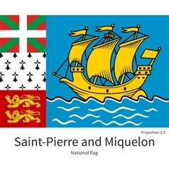 National flag of saint-pierre and miquelon with vector