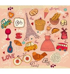 Parisian Background vector image vector image