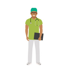 Physiotherapist medical specialist vector