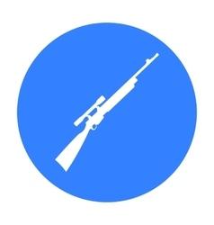 Rifle sniper gun icon black Single weapon icon vector image