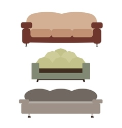 Sofas set flat vector