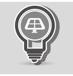 Solar panel isolated icon design vector