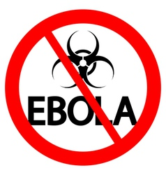 Stop Ebola sign vector image vector image