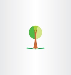 Tree symbol icon vector