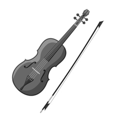 Violin icon gray monochrome style vector image