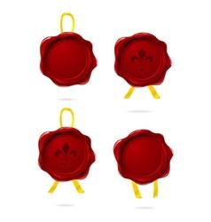 wax seals vector image