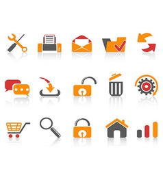 web and internet icons set vector image vector image
