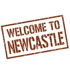 Welcome to newcastle stamp vector