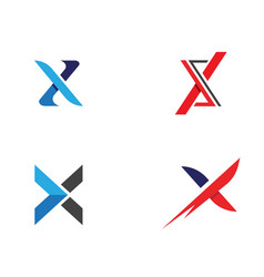 x letter logo template vector image vector image