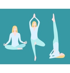 Yoga flat set vector