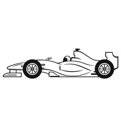 Formula 1 Racing Car vector image