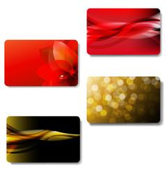 Gift card big set vector