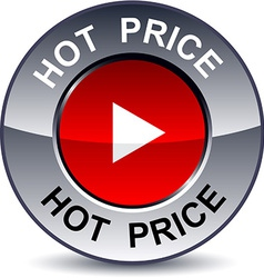 Hot price round button vector