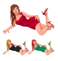 Three kind of ladies vector