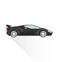 Flat black concept sport car body style icon vector