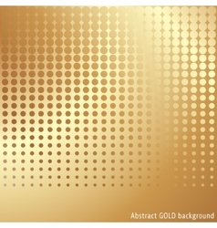 Gold halftone background vector