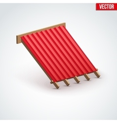 Icon metal cover on roof vector