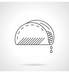 Mexican taco flat thin line icon vector