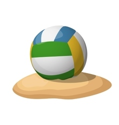 Volleyball on the sand vector