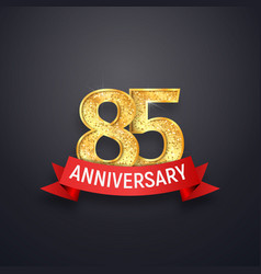 85 th anniversary logo template eighty-five years vector image vector image
