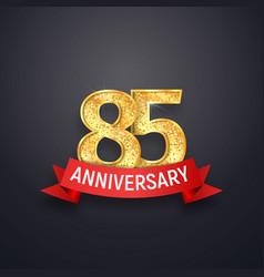 85 th anniversary logo template eighty-five years vector