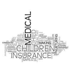 A word about child medical insurance text word vector