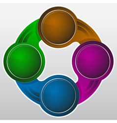 abstract Infographics circle design element vector image vector image