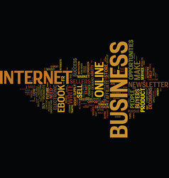 Are you in the right online business text vector