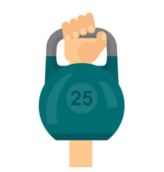 arm raises dumbbell vector image
