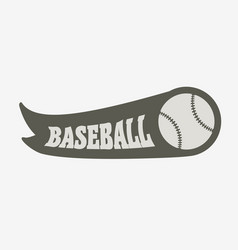 baseball logo badge or label design concept with vector image