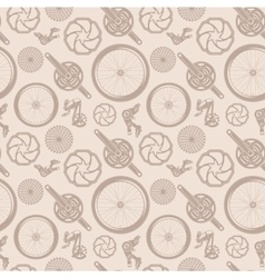 Bike accessories pattern vector