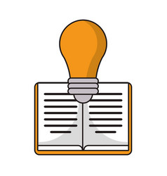 Book idea discovery icon vector