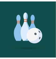 Bowling ball and pins vector