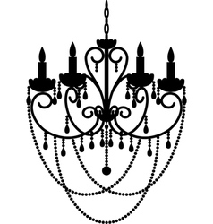 chandelier with beads vector image