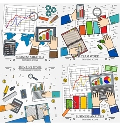 Concepts for business analysis and planning vector