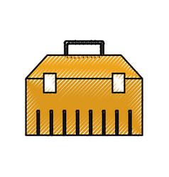 Construction toolkit equipment metal box vector