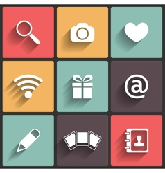 Design Flat icons for Web vector image vector image