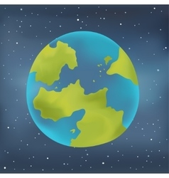 Earth planet on a starry sky background vector