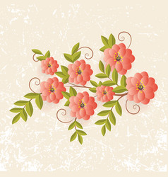 floral design element for page vector image vector image