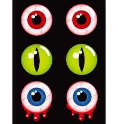 Halloween eyes vector