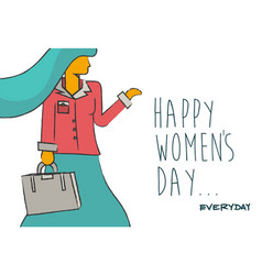 Happy womens day business lady design vector